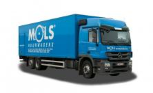 Grote koelvrachtwagen met slaapcabine en laadklep - 2 zitplaatsen (kl 99)
