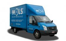 Camionnette avec bac à meubles et  hayon - 3 sièges - LEZ permis  (cl 45)