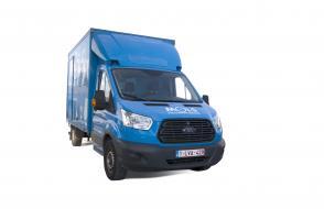 Verhuiswagen met meubelbak en laadklep - 3 zitplaatsen (kl 46)